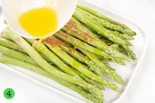 step 4 Season asparagus
