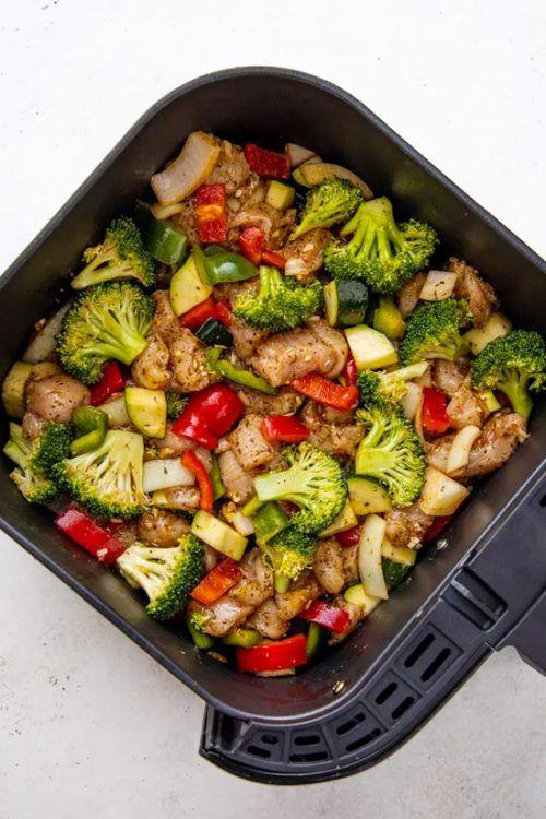 Healthy Air Fryer Chicken and Veggies
