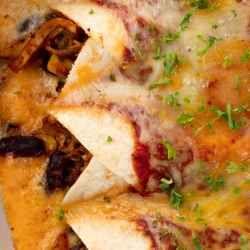 The rich, creamy enchilada sauce