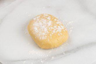 step 6: Put parchment paper over the dough