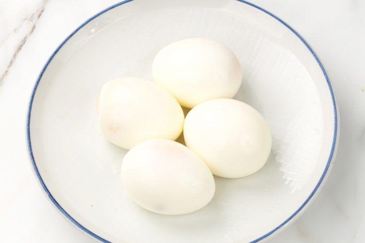 step 1: prepare the boiled eggs