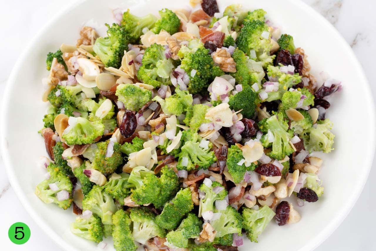 step by step Broccoli Salad Recipe