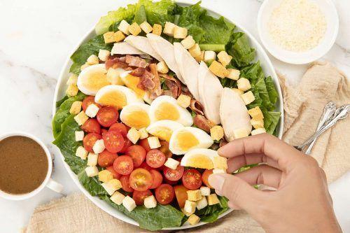 step 5 arrange the Caesar Salad platter