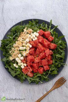 How to make Watermelon Arugula Salad Recipe