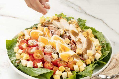 step 6 serve how to make Caesar Salad Recipe