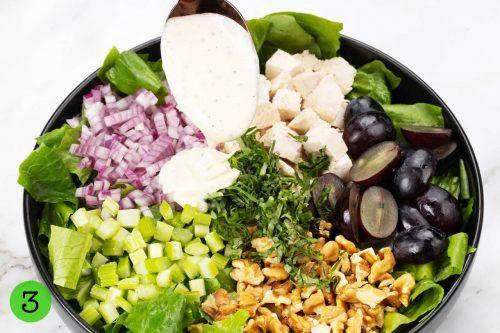 Step 3 Toss the salad