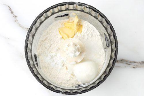 step 1: make the dough for quiche