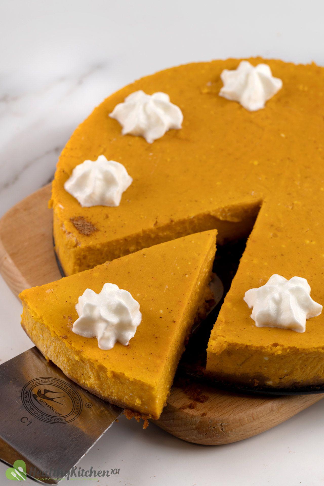 Healthy Crustless Pumpkin Cheesecake Recipe
