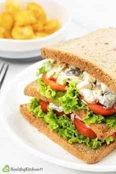 homemade chicken salad sandwich