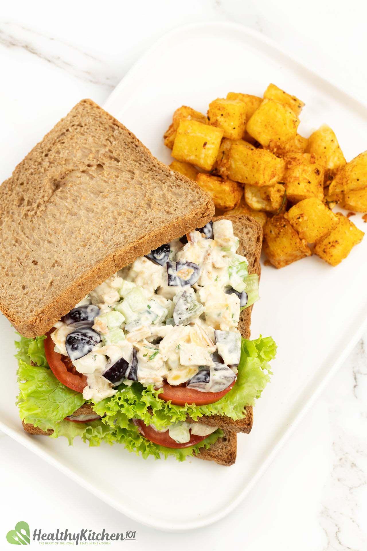 What to serve with chicken salad sandwich