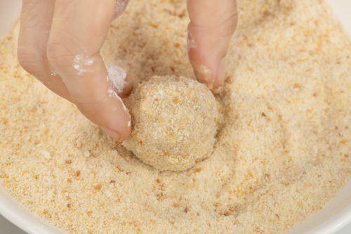 step: coat the rice balls(3)