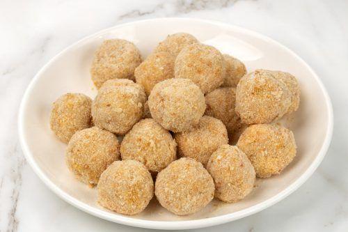 step: coat the rice balls(4)
