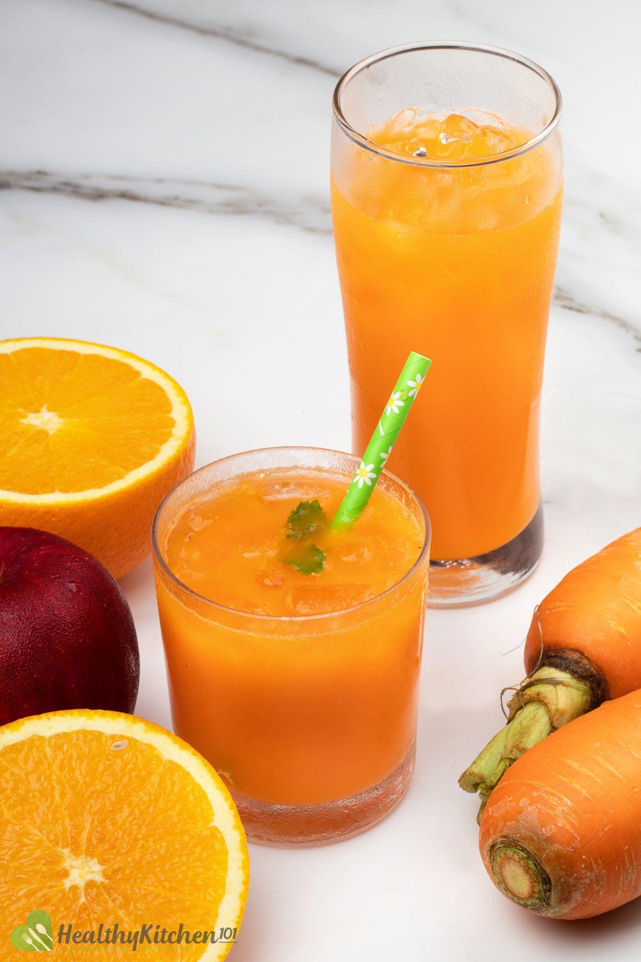 Homemade Carrot Apple Juice Recipe