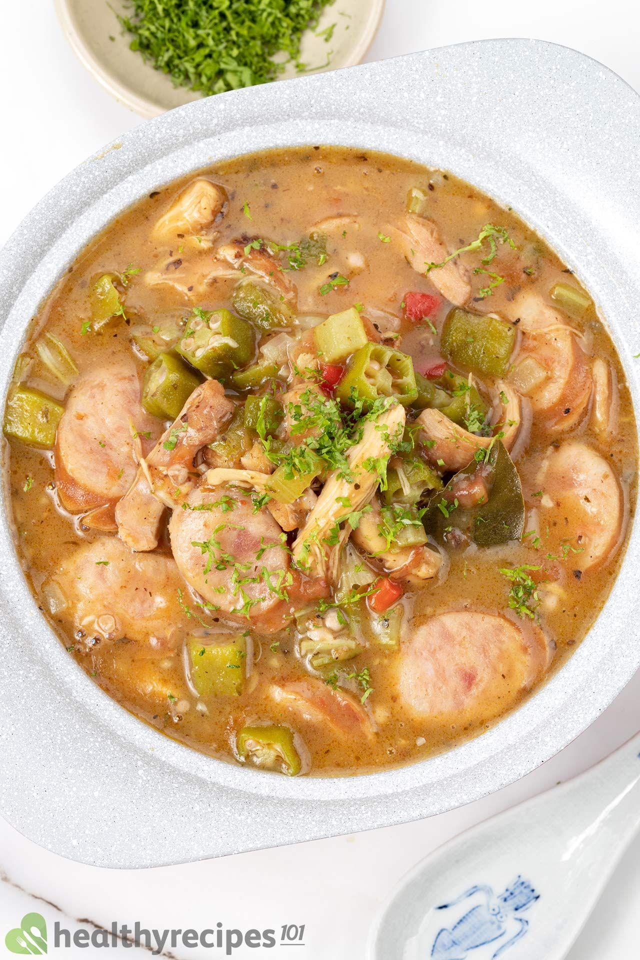 Homemade Chicken and Sausage Gumbo Recipe