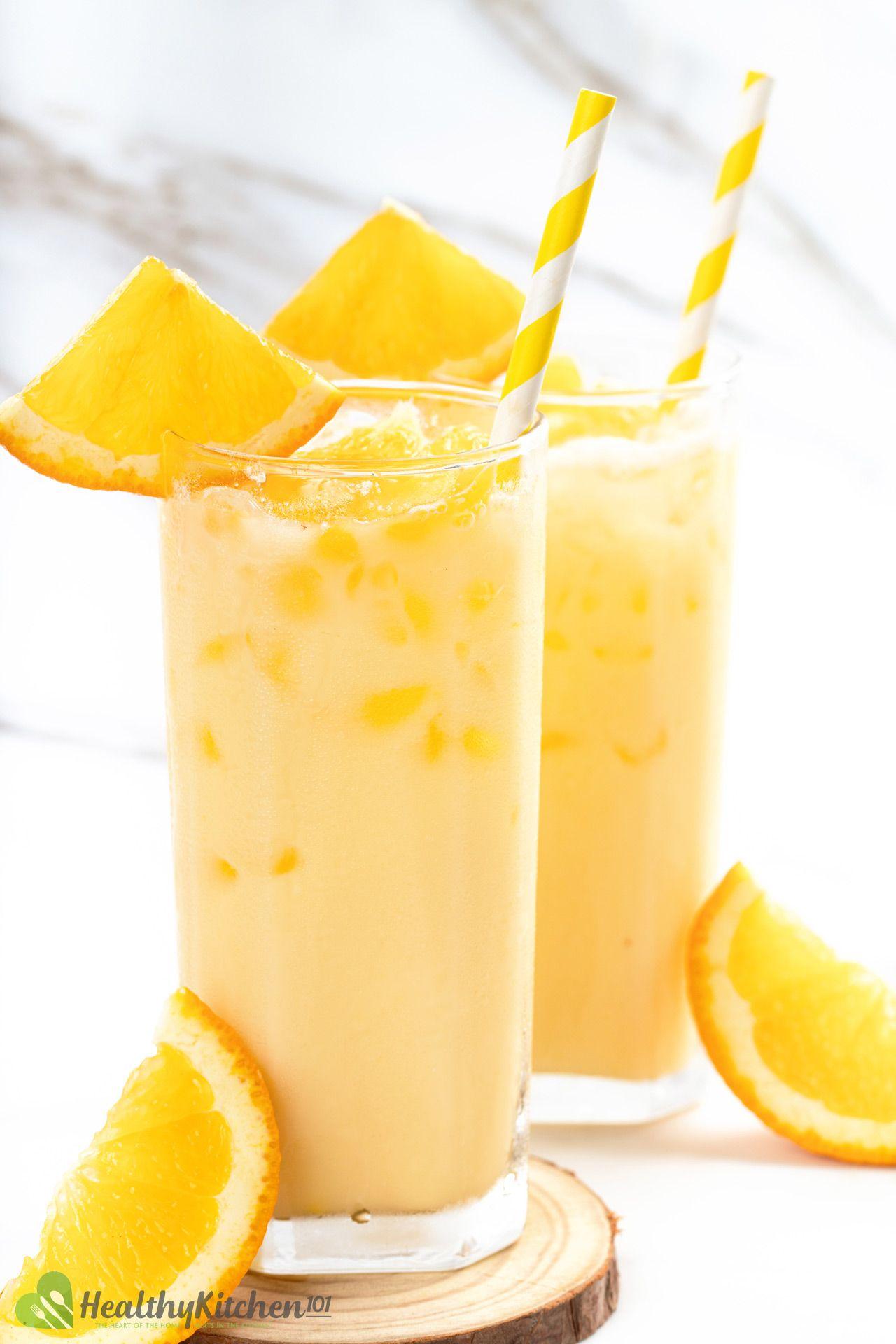 how to make Milk and Orange Juice Recipe
