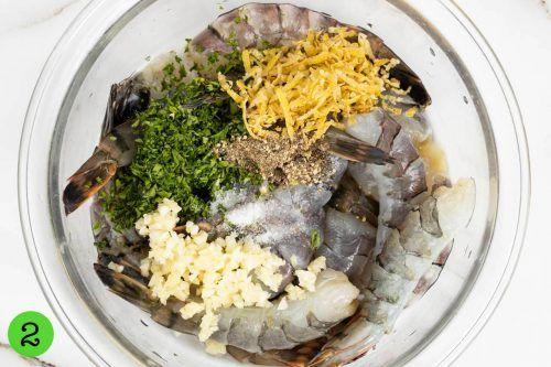 Step 2 Marinate the shrimp