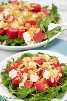 homemade watermelon arugula salad recipe