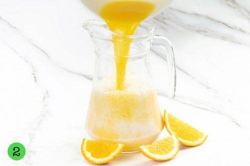 step by step Milk and Orange Juice
