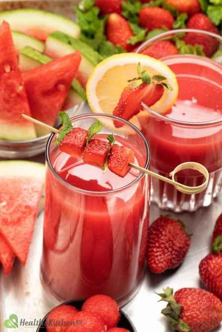 Healthy Watermelon Strawberry Juice