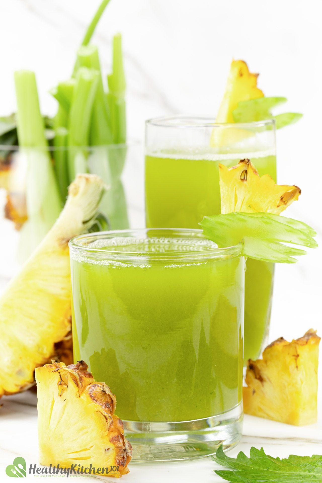 Homemade Healthy Pineapple Celery Juice Recipe