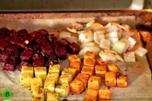 Add onion to roast