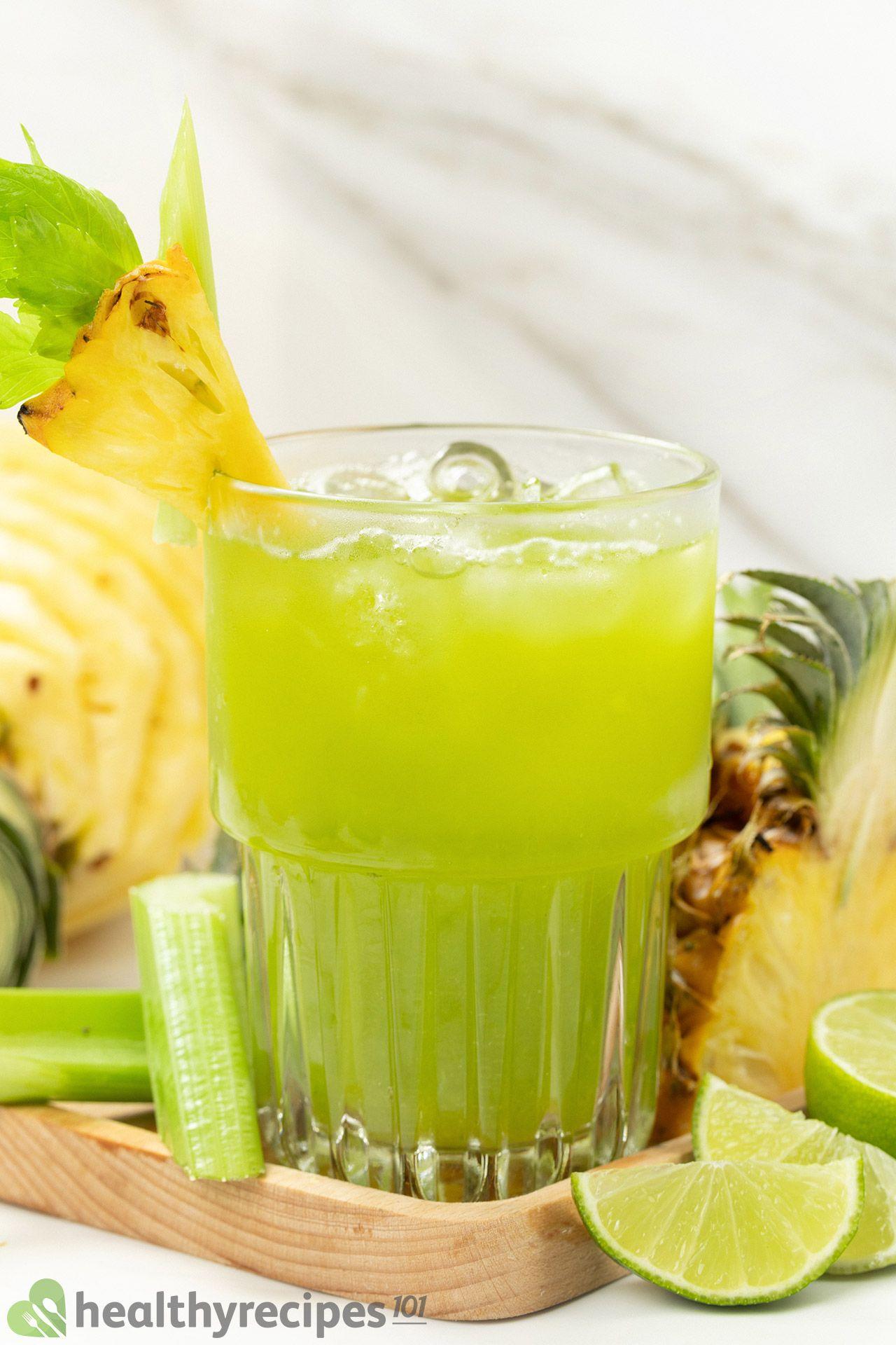 healthy pineapple celery juice