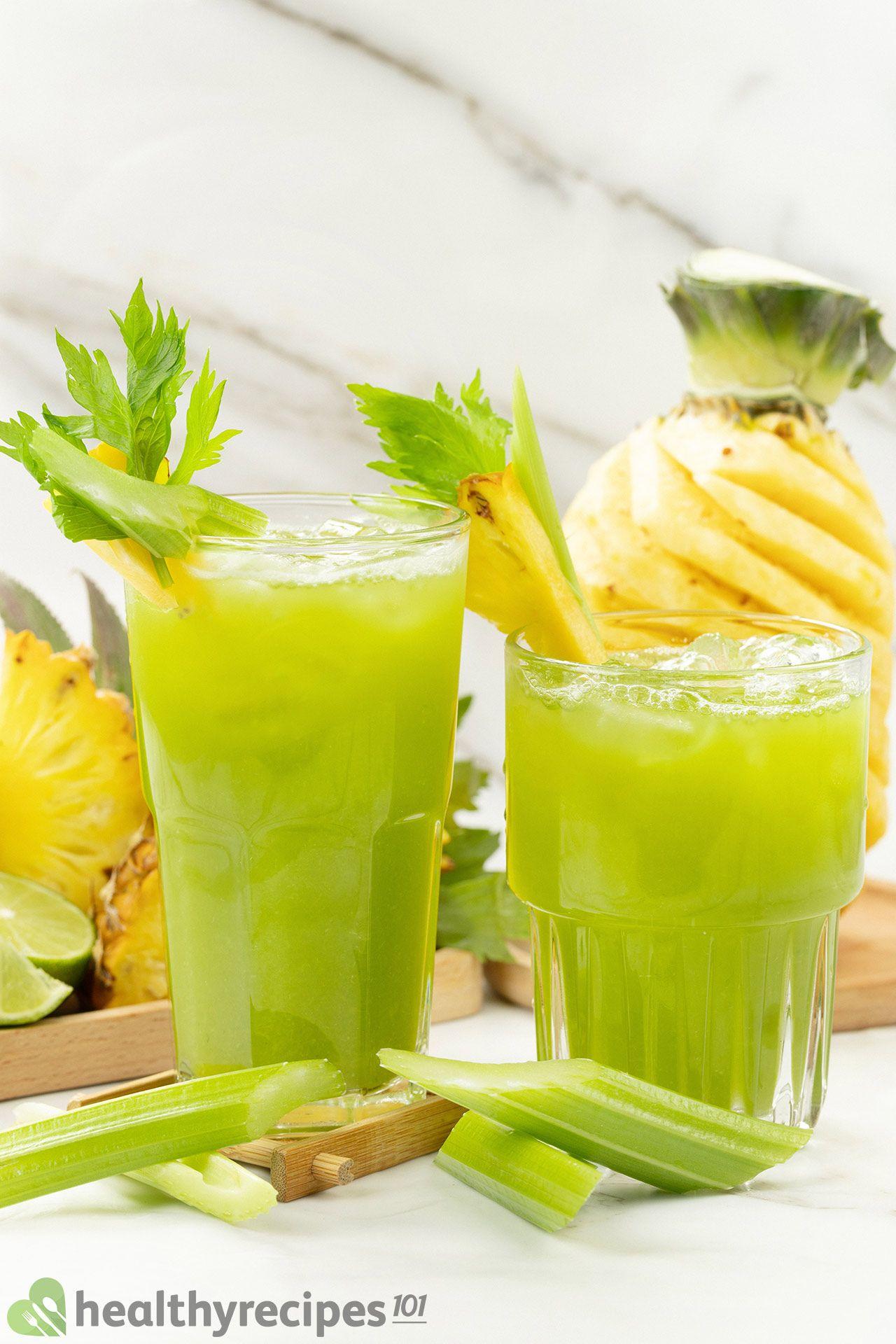 how long does pineapple celery juice last
