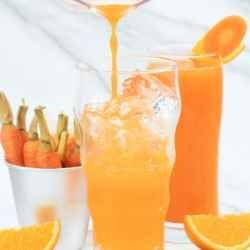 Homemade Carrot Orange Juice