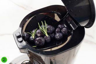Step 2: Juice the blueberries.