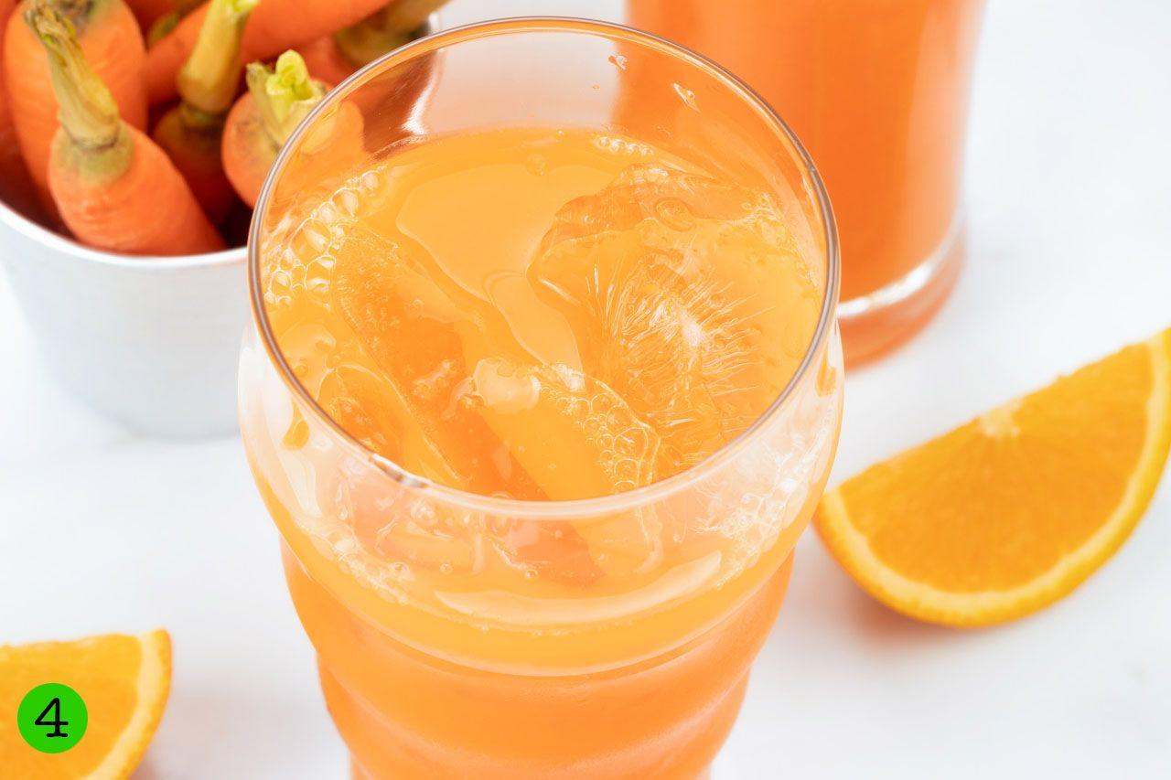 step 4 serve carrot orange juice