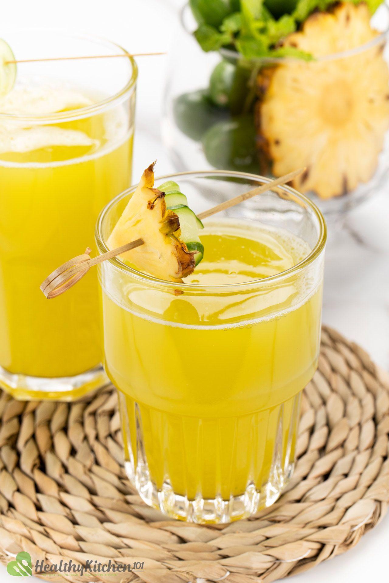 Homemade Pineapple Cucumber Juice