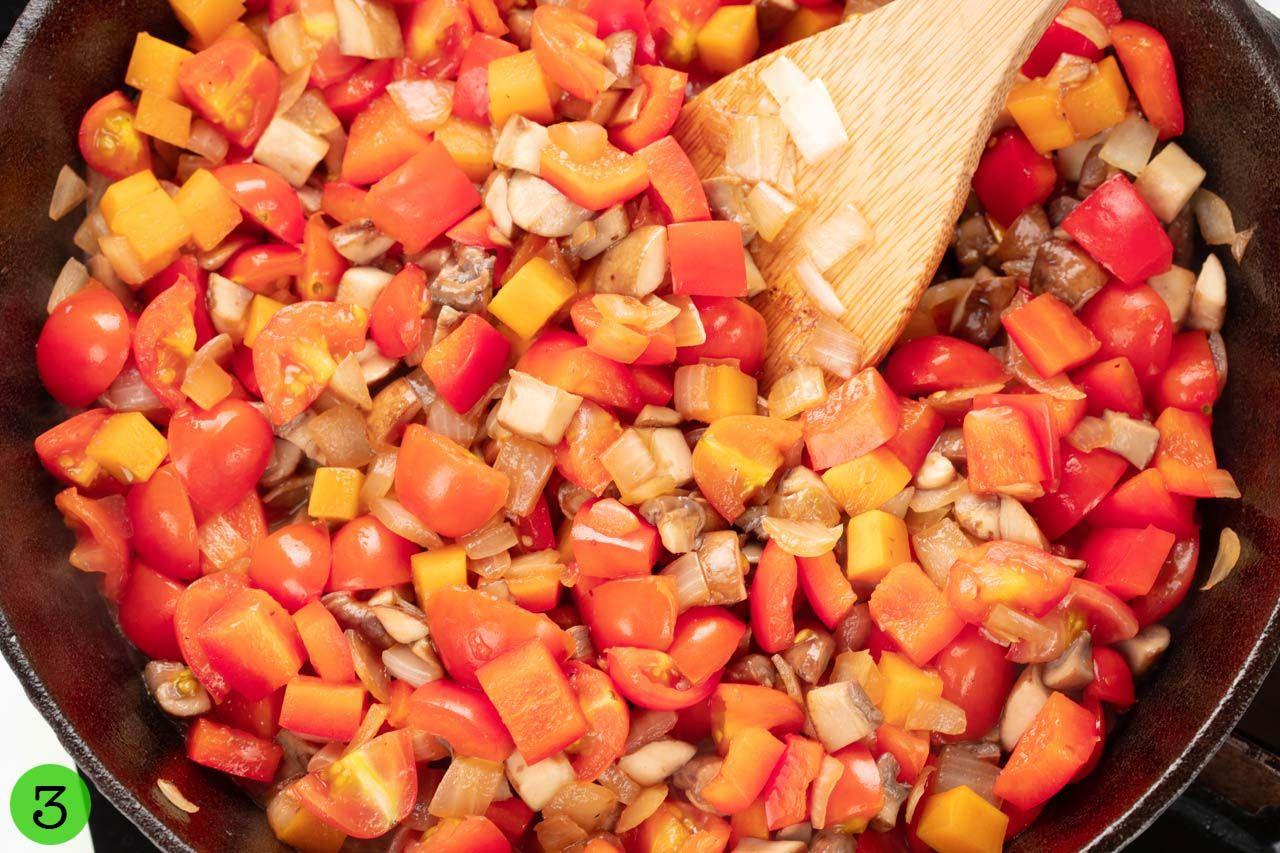Step 3: Stir-fry vegetables