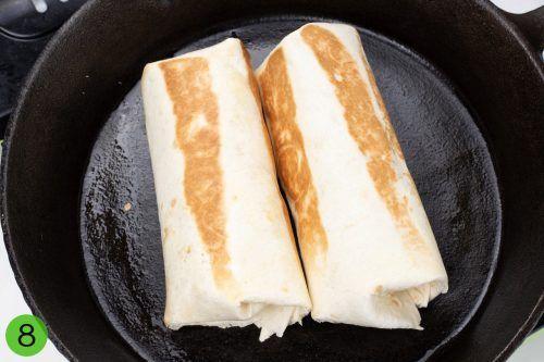 Step 8-Toast the burrito