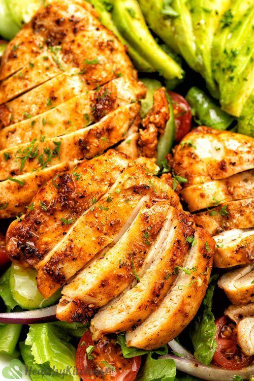 Homemade grilled chicken salad