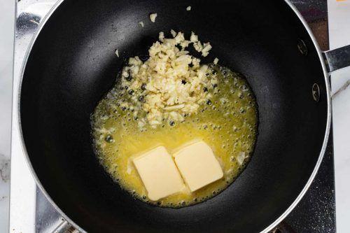 step 1: stir fry garlic