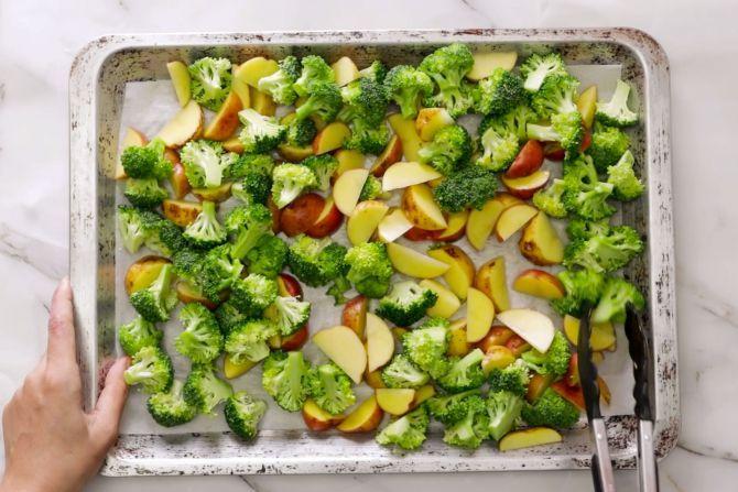 Bake vegetables