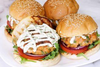 step 7: Arrange the burger and serve