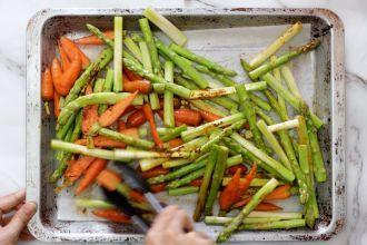 Bake the vegetable