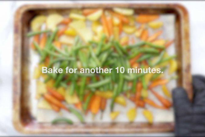 Bake the vegetables