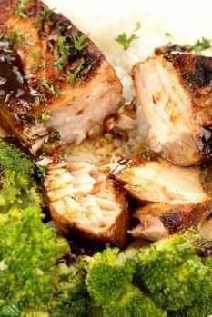 homemade maple glazed salmon