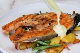 how to make Salmon Steak Serve