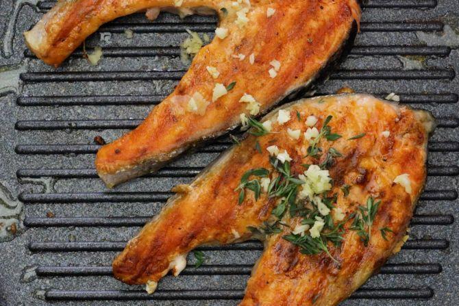 sear the Salmon