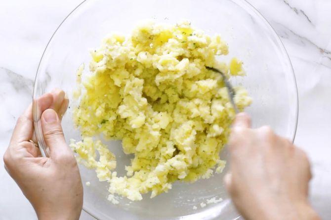 step 2: Season and mash the potatoes