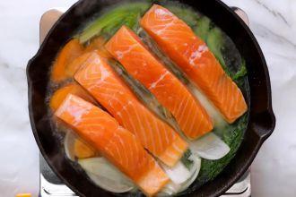 step 3: Poach the salmon