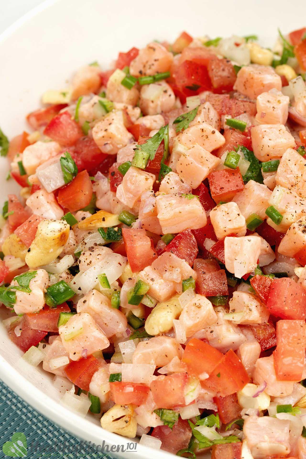 Homemade Lomi Lomi Salmon Recipe