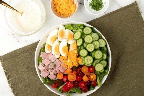 step 2: arrange the salad