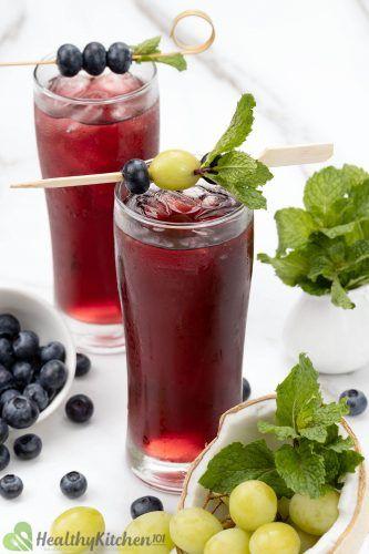 unsweetened blueberry juice