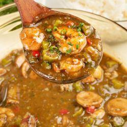 is seafood gumbo healthy