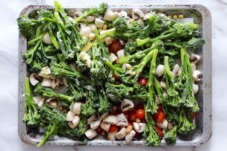 step 1: season vegetables
