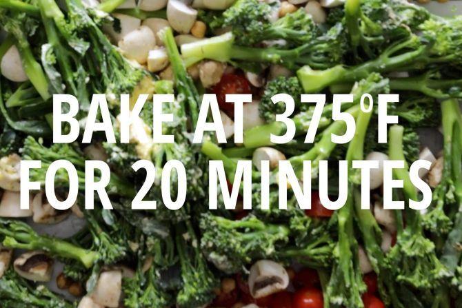 step 2: Bake the vegetables.